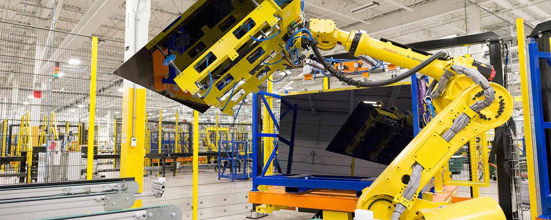 robot solar panels