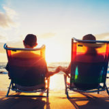 retirement beach sea couple
